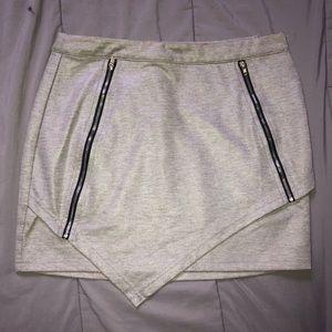 Grey TOBI mini skirt